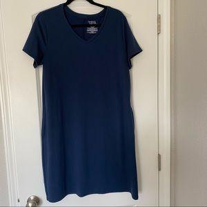 Blue Time and Tru V-Neck Dress